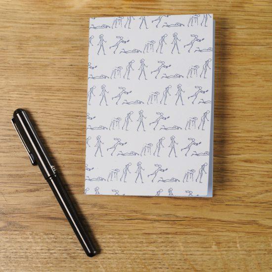 Notaboekje met originele print op gerecycleerd papier